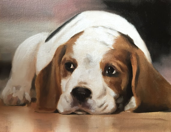 Beagle Dog Art Print, Beagle Painting, Beagle Poster, Beagle Decor, Beagle Gifts, Beagle Portrait, Beagle Gift, Beagle Lover Gift