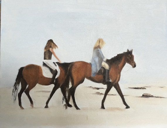 Horse Painting Horse Art Horse PRINT Horse Riding - Art Print  - from original painting by J Coates Original Oil Painting or Print