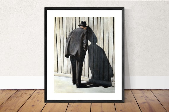 Old Man Painting Peeping Tom Art PRINT Peeping Tom - Art Print  - from original painting by J Coates