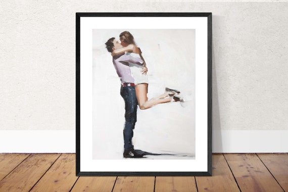 Lovers Painting Lovers Art PRINT Couple Painting Couple Picture Lovers - Art Print - from original painting by J Coates