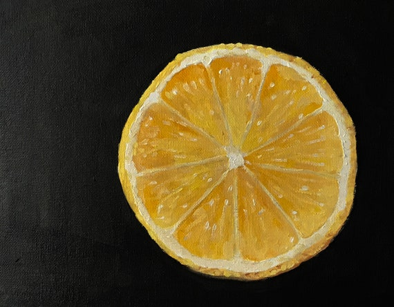 Lemon Painting Lemon Slices Art PRINT Lemons - Art Print  - from original painting by J Coates
