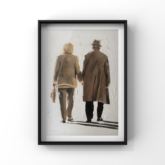 Love Painting Couple Art Love PRINT Kissing Legs - Art Print  - from original painting by J Coates