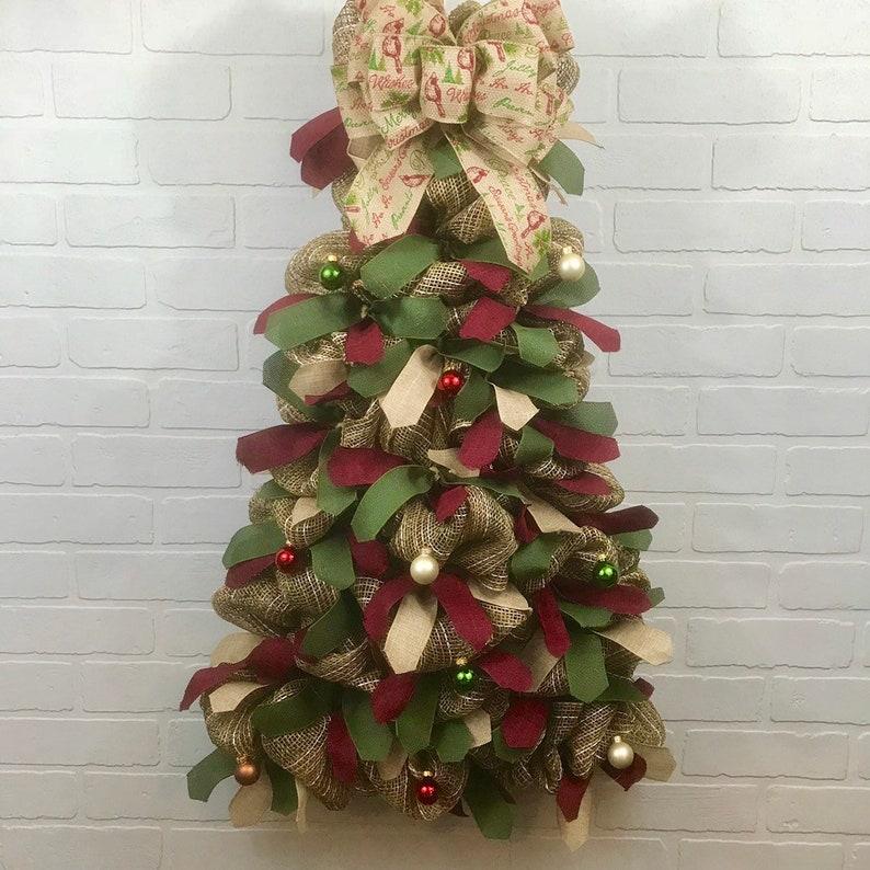Christmas Deco Mesh Wreath Christmas Wreath Winter Deco Mesh Etsy