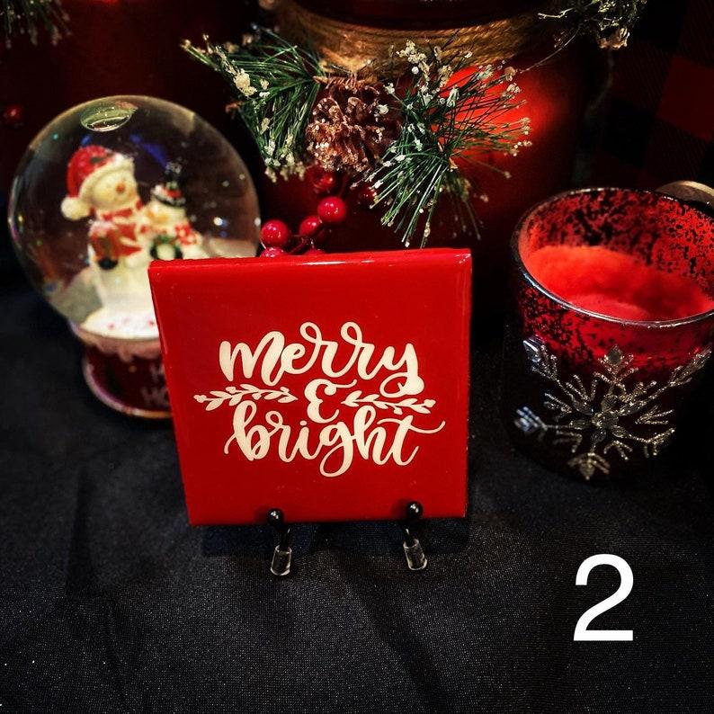 Merry /& Bright Christmas Coasters