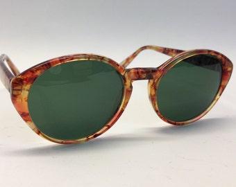 Kenzo | Vintage | 1980s | Sunglasses | Oval shape | Honey | Mod. Lana K078