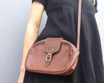 4b49967bbf Longchamp | Vintage | 1980s | Handbag | Leather | Brown | Crossbody bag |  Small size | Classic