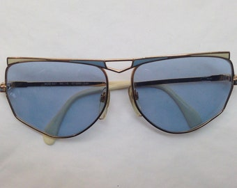 edfd1dd2772b 7398a903029b Cazal mod.227 | Vintage | 1980s | Sunglasses | Blue/cream  enamel ...