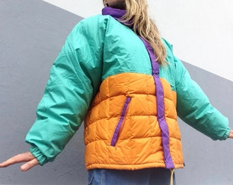 3add3ed5c Moncler | Vintage | 1980s | Down jacket | Multicolor | Goose down | Puffer  jacket | Size 3 | Rare