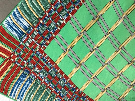 Lanvin | Vintage | 1980s | Scarf | Geometric patt… - image 8