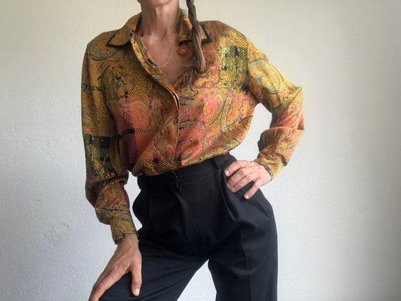 Louis Féraud | Vintage | 1980s | Blouse | Silk | P