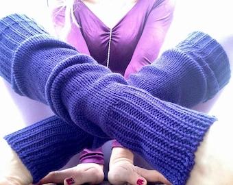 Aerobic/Dance | Vintage | 1980s | Leg Warmers | Purple | Retro | Deadstock | One size
