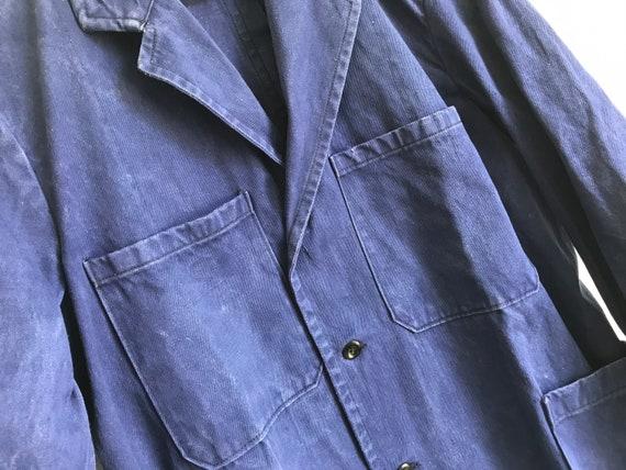 French workwear | Vintage | 1960s | Blue worker j… - image 10