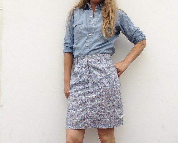 Cacharel | Vintage | 1980s | Skirt | Liberty patte