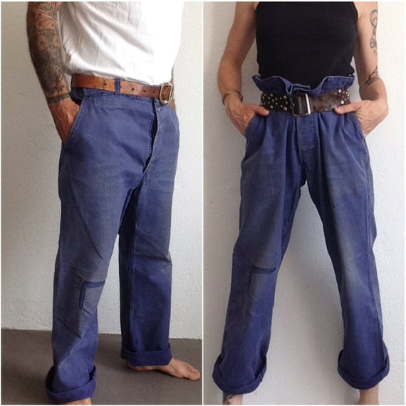 French workwear | Vintage | 1950s | Blue work pant