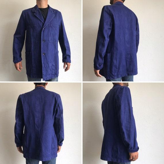 French workwear | Vintage | 1960s | Blue worker j… - image 4