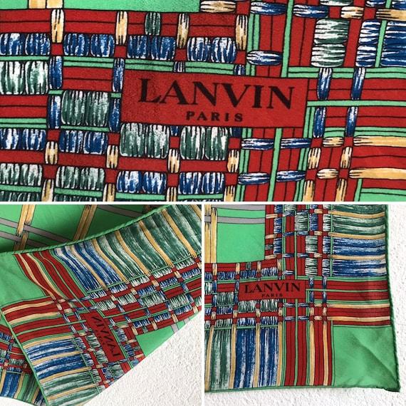 Lanvin | Vintage | 1980s | Scarf | Geometric patt… - image 3