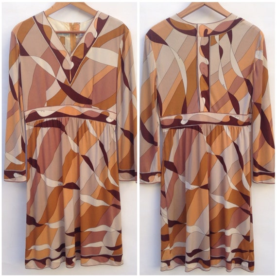 Emilio Pucci   Vintage   1960s   Dress   Silk   B… - image 8