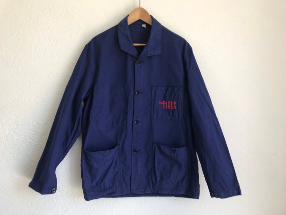 French workwear | Vintage | 1970s | Blue worker j… - image 6