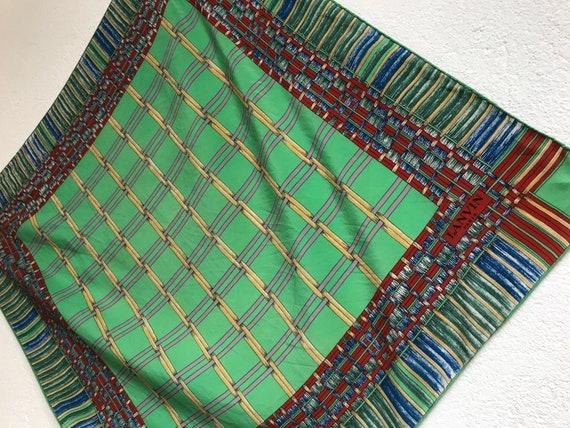 Lanvin | Vintage | 1980s | Scarf | Geometric patt… - image 4