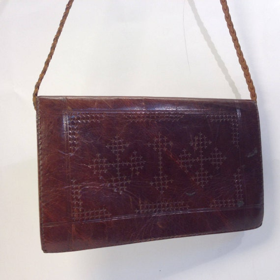 Ethnic purse | Vintage | 1970s | Handbag | Leather