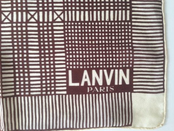 Lanvin | Vintage | 1970s | Scarf | Geometric patte