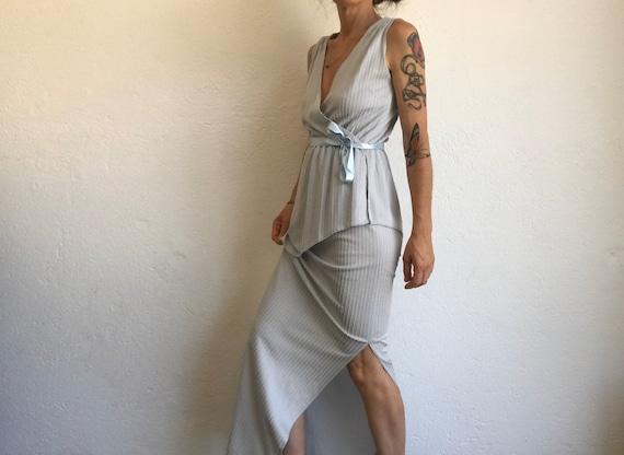 Vintage Evening Dress | Maxi Dress | 1980s | Stri… - image 6