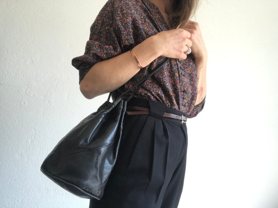 Bucket bag | Vintage | 1980s | Handbag | Leather |