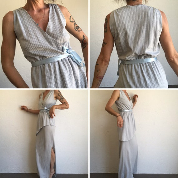 Vintage Evening Dress | Maxi Dress | 1980s | Stri… - image 2
