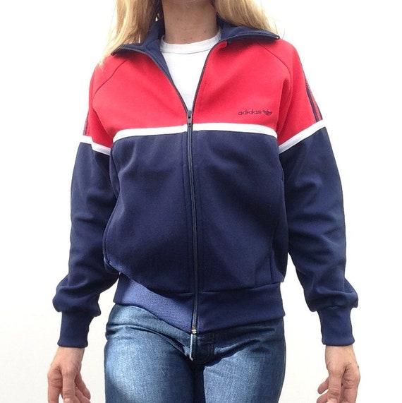 Adidas | Vintage | 1980s | Tracksuit jacket | Redbluewhite | Sports jacket