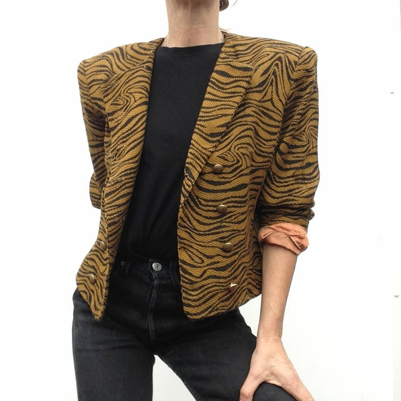 e681e25048c Yves Saint Laurent Vintage 1980s Jacket Animal print image ...