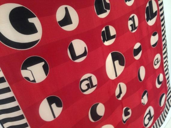Guy Laroche   Vintage   1980s   Scarf   Circles/s… - image 4