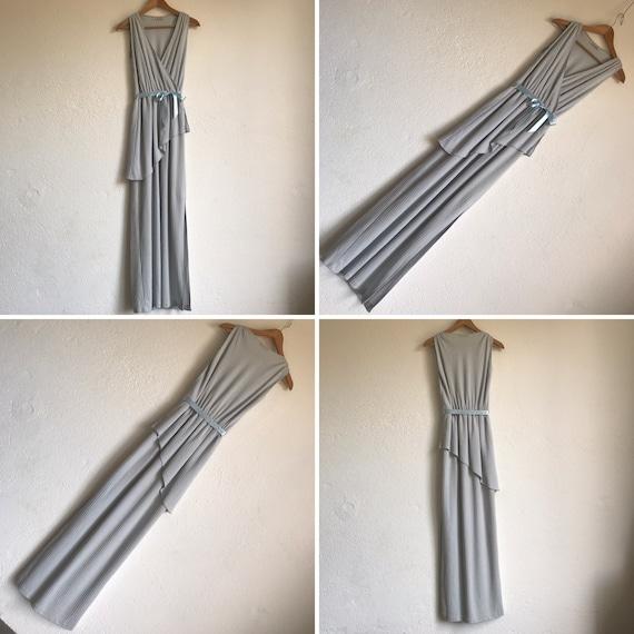 Vintage Evening Dress | Maxi Dress | 1980s | Stri… - image 9