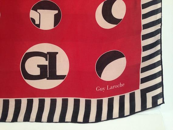 Guy Laroche   Vintage   1980s   Scarf   Circles/s… - image 2