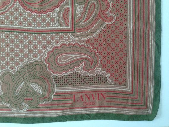 Lanvin | Vintage | 1970s | Scarf | Paisley pattern