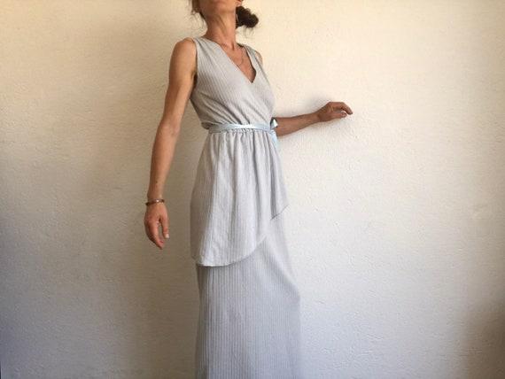 Vintage Evening Dress | Maxi Dress | 1980s | Stri… - image 5