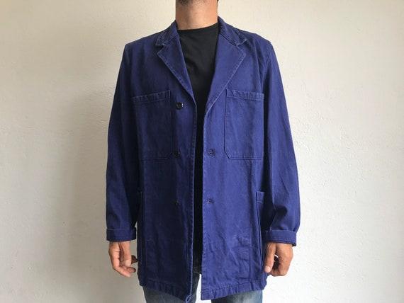 French workwear | Vintage | 1960s | Blue worker j… - image 2