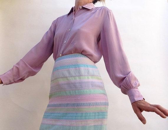 Céline | Vintage | 1980s | Blouse | Silk | Lilac |
