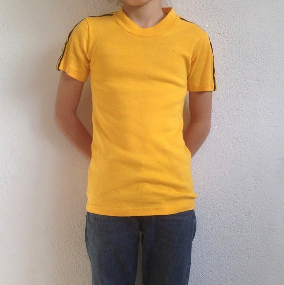 Adidas | Vintage | 1970s | Soccer t-shirt | Yellow