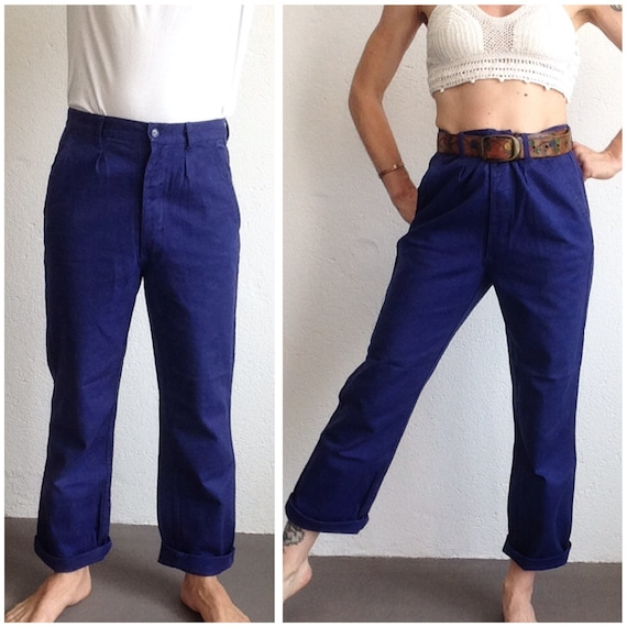 French workwear | Vintage | 1970s | Blue work pant