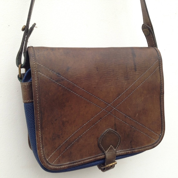 Castelbajac Vintage 1980s Handbag Leather Skai  500b8643c3971