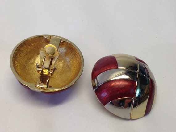 Lanvin   Vintage   1980s   Earings Clip   Gold/Si… - image 3