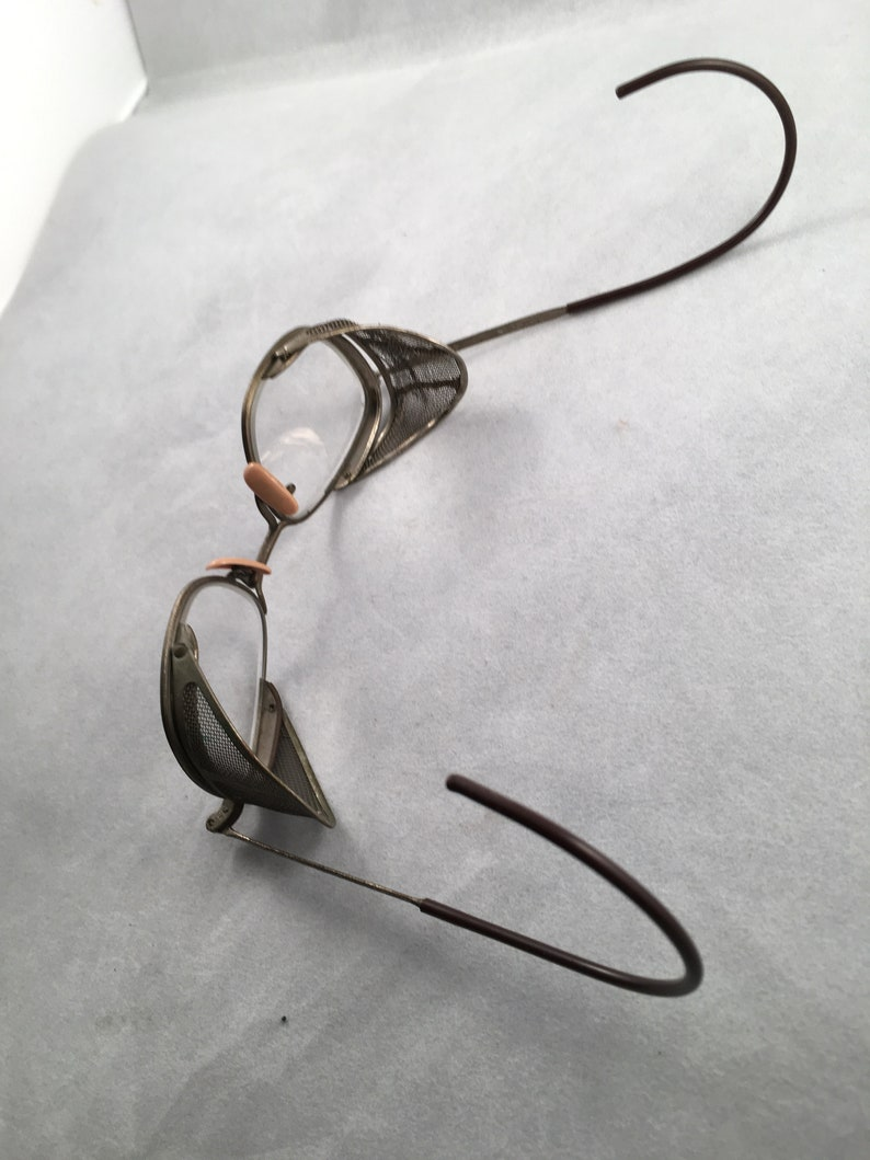 Vintage Old Screen Sided Safety Glasses