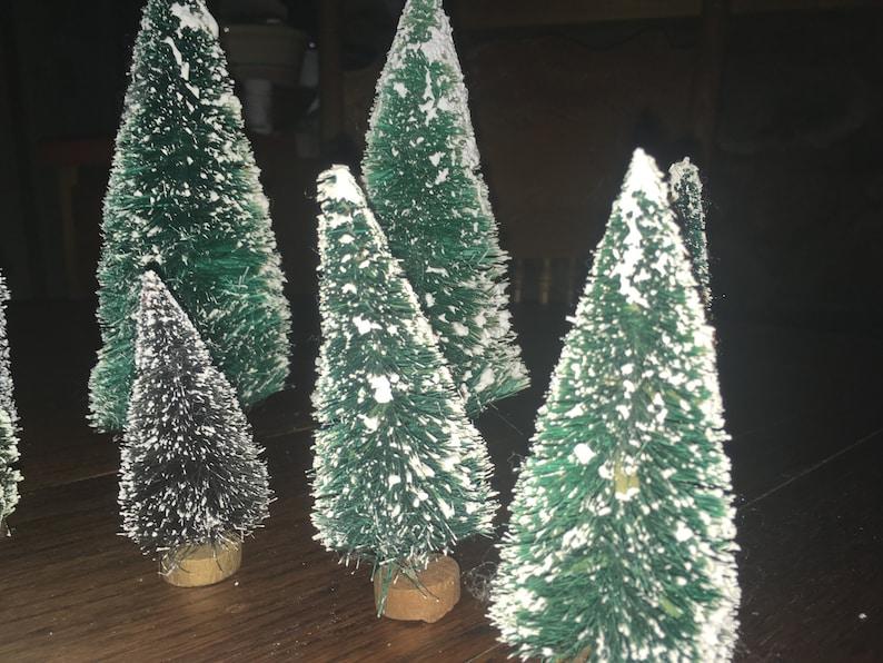 9 Vintage Bottle Trees And Bushes For HO Scale Model Train Landscaping