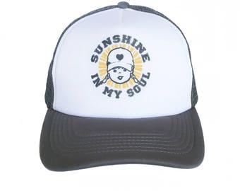 Trucker Hat For Women Sunshine In My Soul Zen Quote Mesh Trucker Hat  Baseball Cap ef404183f7