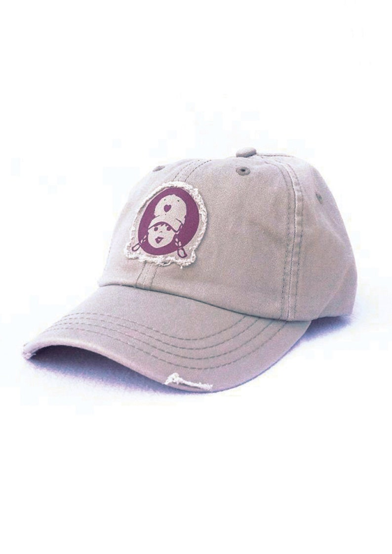 Womens Baseball Cap Sun Hat Tomboy Patch Frayed Applique Khaki  ae6fb70bd6f