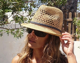 Fedora beach hat, fedora hats for women, straw hat, Green Hat, cool hats, hats for sale, Girls hats, fashion hats, festival hat