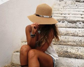 Beach wide brim hat, floppy straw hats, summer fedora hat, personalized sun hats for women, lady style, elegant hats
