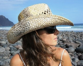 Sexy cowgirl hat, personalized western hats , cowboy hat for women, sun hat by kekugi