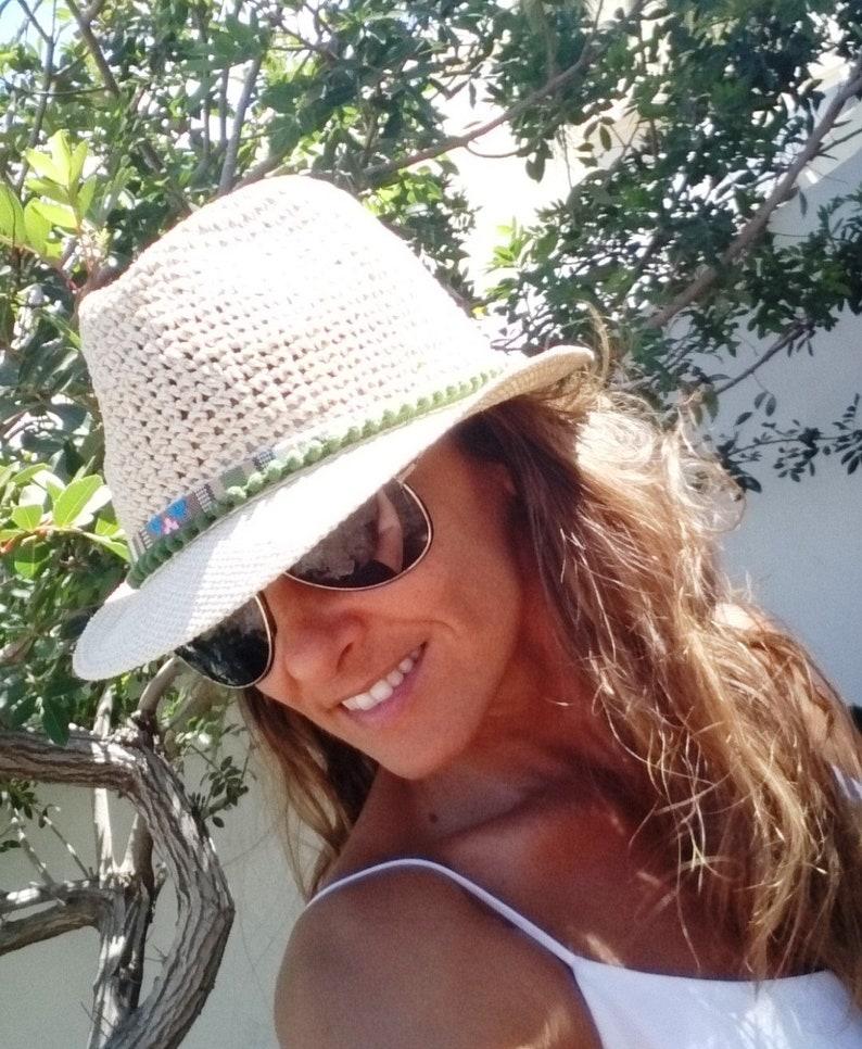 a46bd292 Green Fedora hat hats for women sun hats beach hats Straw | Etsy