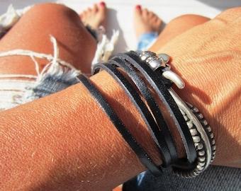 personalized bracelet, name bracelet, initial bracelet, wrap leather Bracelet, boho bracelet, Bohemian jewelry, boho jewelry